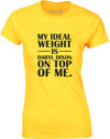 Ideal Weight Is Daryl Dixon On Top Of Me | Womens T-Shirt