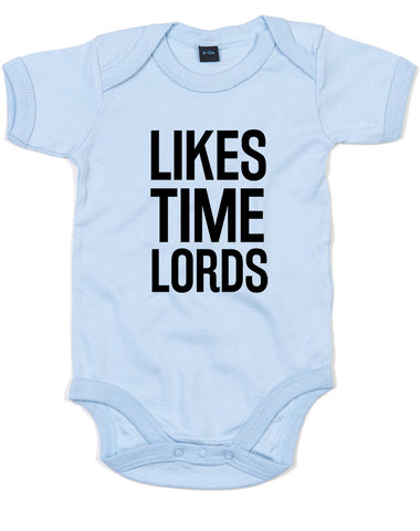 Likes Time Lords | Baby Grow