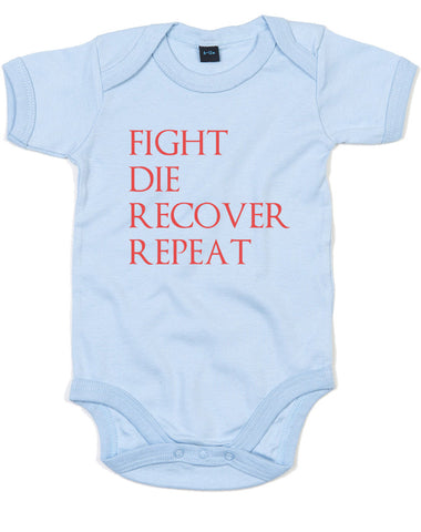 Fight Die Recover Repeat | Baby Grow
