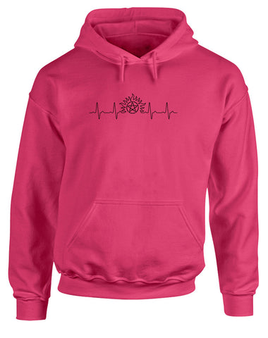 Supernatural Heartbeat | Adults Hoodie