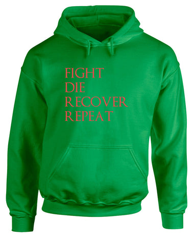 Fight Die Recover Repeat | Adults Hoodie