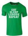 Eat Sleep League Repeat | Adults T-Shirt