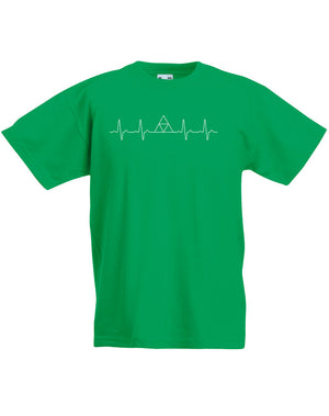 Triforce Heartbeat | Kids T-Shirt