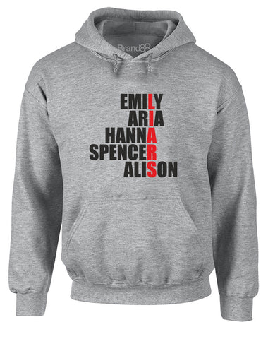 Emily, Aria, Hanna, Spencer, Alison | Adults Hoodie