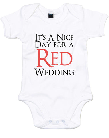 Red Wedding | Baby Grow