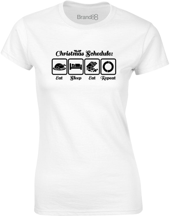 Christmas Schedule | Womens T-Shirt