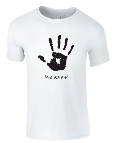 We Know Handprint | Adults T-Shirt