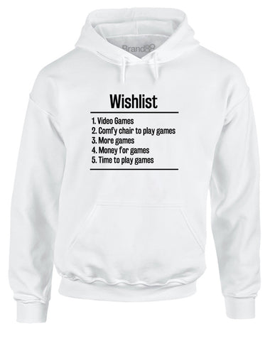 Video Games Wishlist | Adults Hoodie
