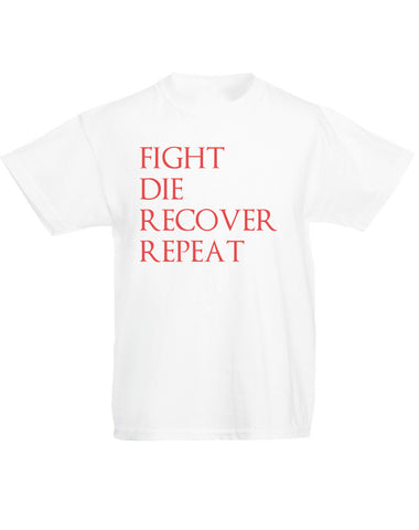 Fight Die Recover Repeat | Kids T-Shirt
