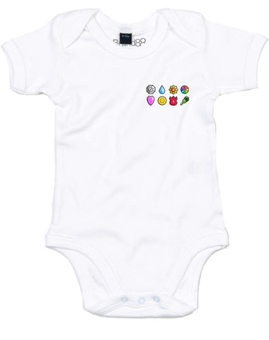 The First Eight Badges | Baby Grow