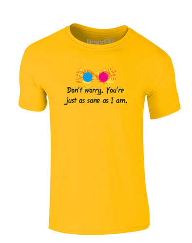 Don't Worry. You're Just As Sane As I Am. | Kids T-Shirt