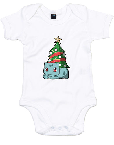 Christmas Bulbasaur | Baby Grow