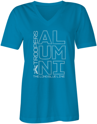 Alumni Summer Blue V-Neck Tshirt - Ladies'