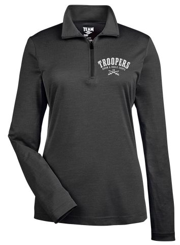 Black Quarter-Zip - Ladies'