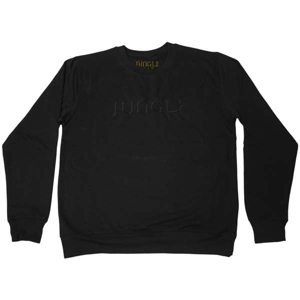 BLACK EMBROIDERED JUNGLE LOGO BLACK SWEATSHIRT