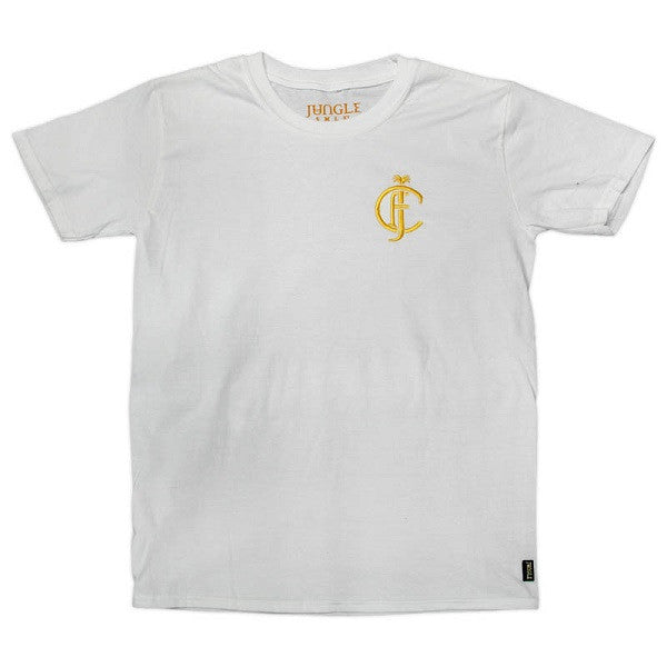 WHITE JFC EMBROIDERED T-SHIRT