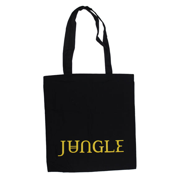 GOLD LOGO BLACK TOTE BAG