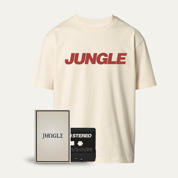 Cassette + Jungle Logo Cream T-shirt [Pre-Order]