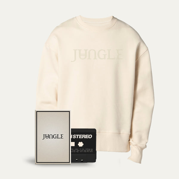 Cassette + Embroidered Logo Cream Sweatshirt [Pre-Order]