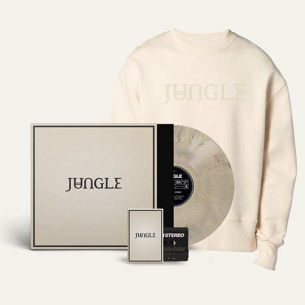 Exclusive Marbled Vinyl + Cassette + Embroidered Logo Cream Sweatshirt [Pre-Order]