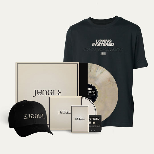 Exclusive Marbled Vinyl + CD + Cassette + Black cap + Black 'loving in stereo' T-shirt [Pre-Order]