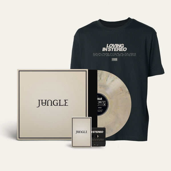 Exclusive Marbled Vinyl + Cassette + Black 'Loving in Stereo' T-shirt [Pre-Order]