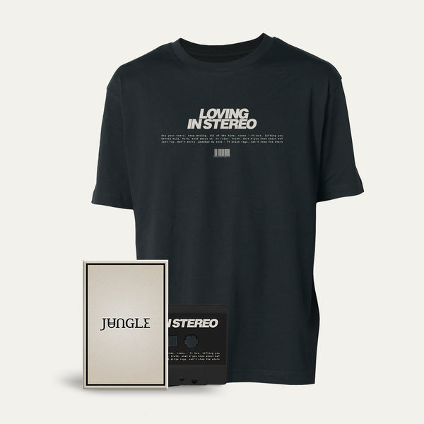 Cassette + Black 'Loving in Stereo' T-shirt [Pre-Order]