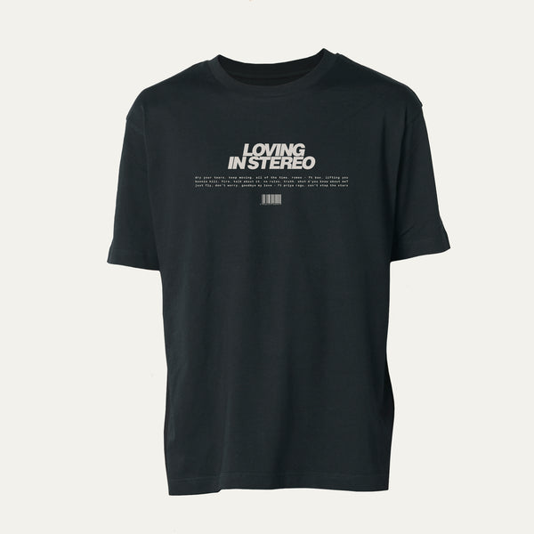 BLACK 'LOVING IN STEREO' T-SHIRT [Pre-Order]