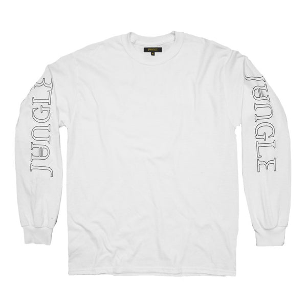 JUNGLE LOGO LONGSLEEVE WHITE T-SHIRT