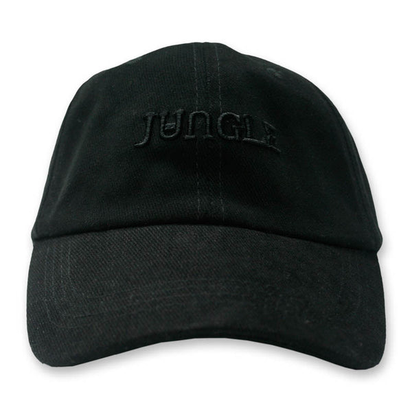BLACK EMBROIDERED LOGO BASEBALL CAP