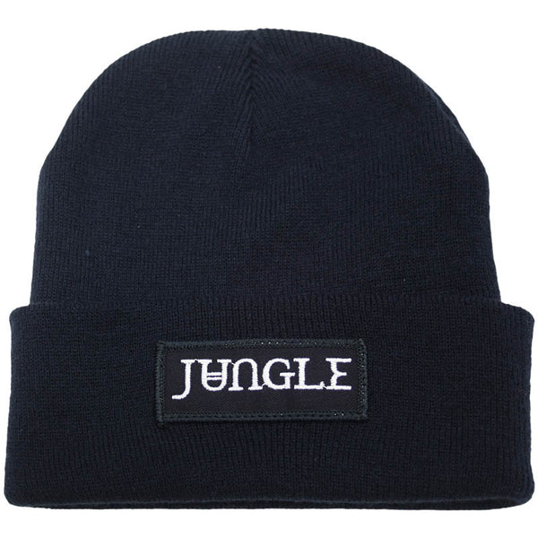 NAVY JUNGLE LOGO BEANIE