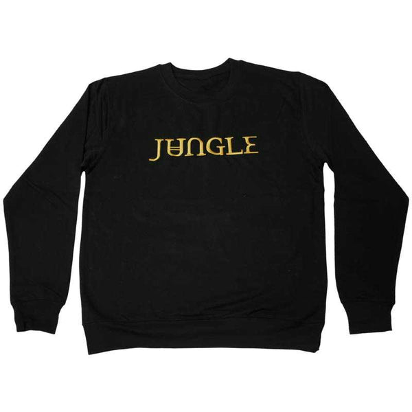 GOLD EMBROIDERED JUNGLE LOGO BLACK SWEATSHIRT