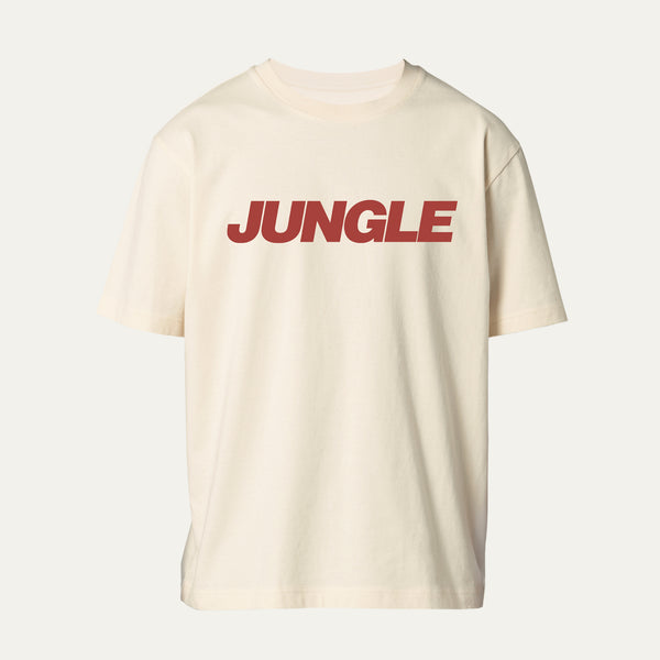 CREAM T-SHIRT WITH RED JUNGLE LOGO [Pre-Order]