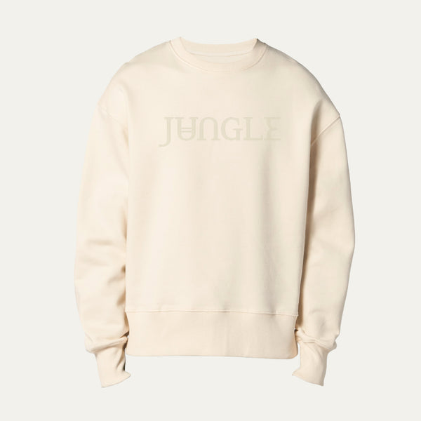 CREAM SWEATSHIRT WITH EMBROIDERED JUNGLE LOGO [Pre-Order]