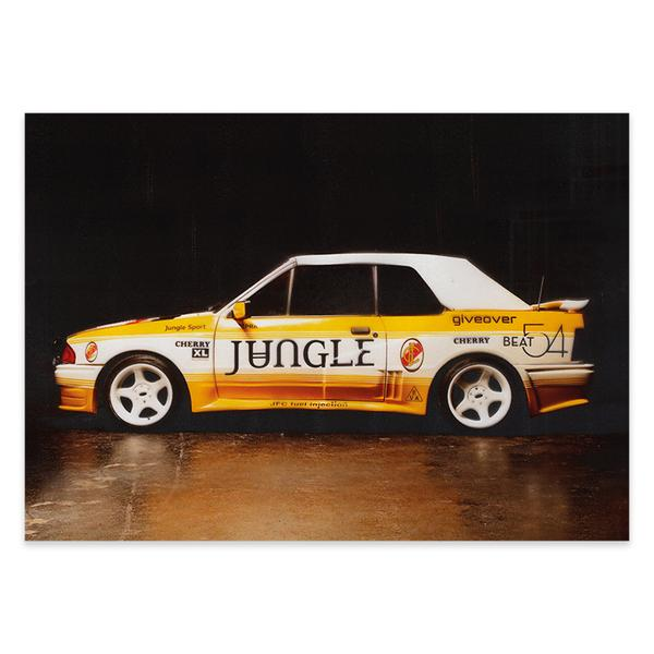 JUNGLE CAR POSTER