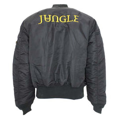 EMBROIDERED JUNGLE ALPHA BOMBER JACKET