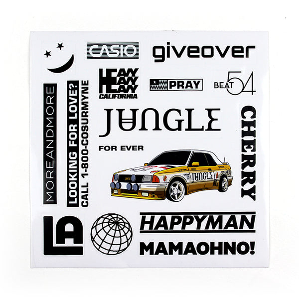 JUNGLE FOR EVER STICKER SHEET