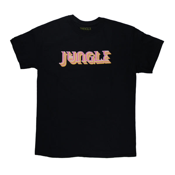 BLOCK JUNGLE LOGO BLACK T-SHIRT
