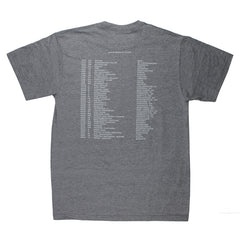 REVERSED JUNGLE LOGO 2019 TOUR GREY T-SHIRT