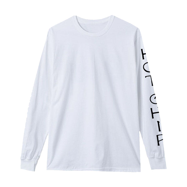 HOT CHIP SLEEVE LOGO WHITE L/SLEEVE