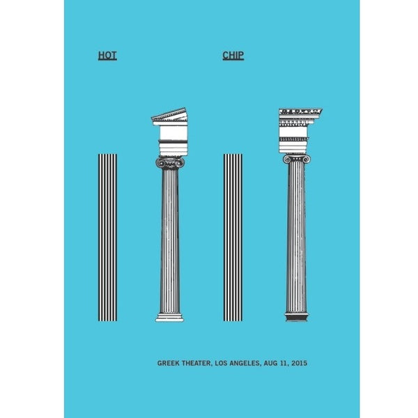 Hot Chip Limited Edition LA Greek Theatre Show Poster