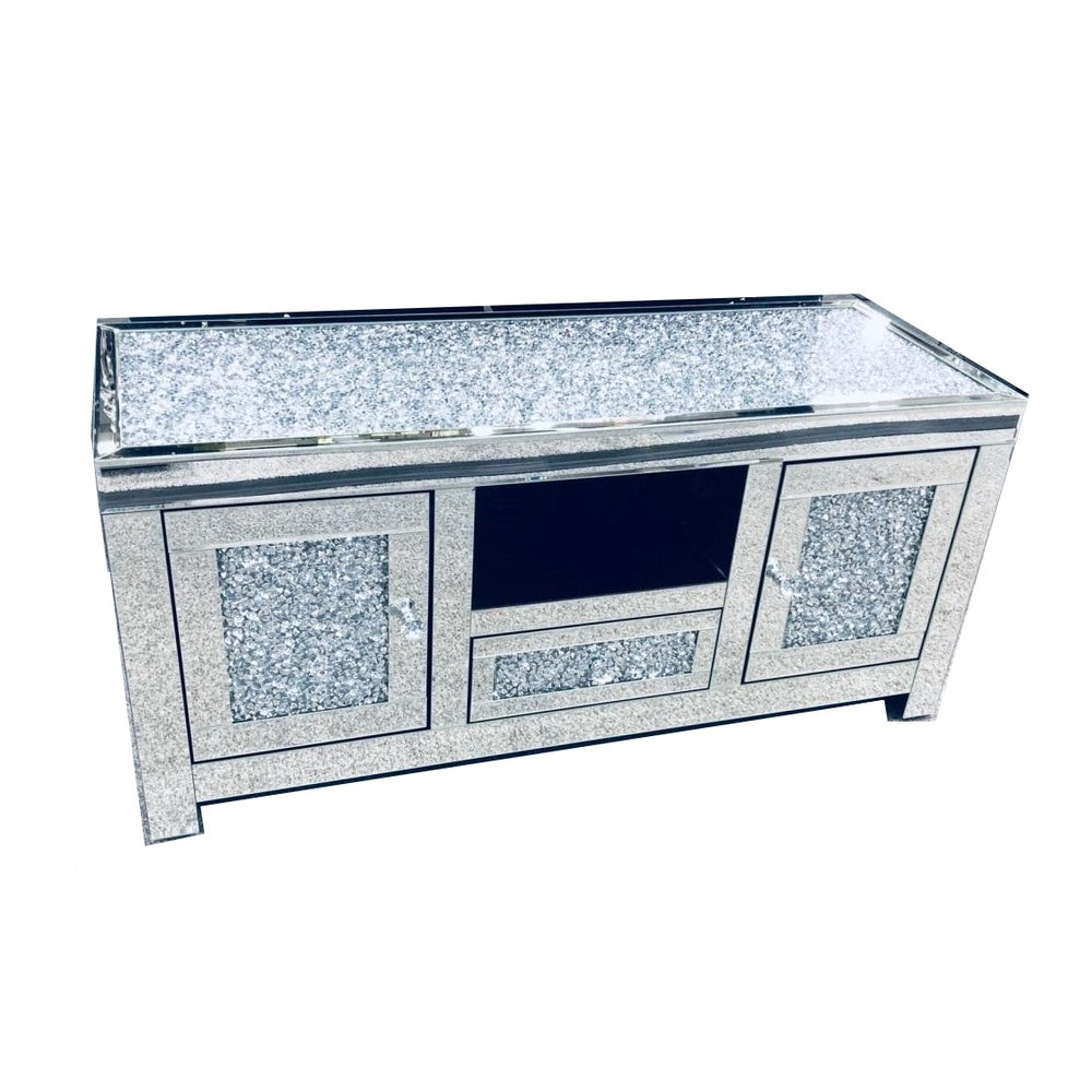 Crushed Diamond Top TV Unit 120cm