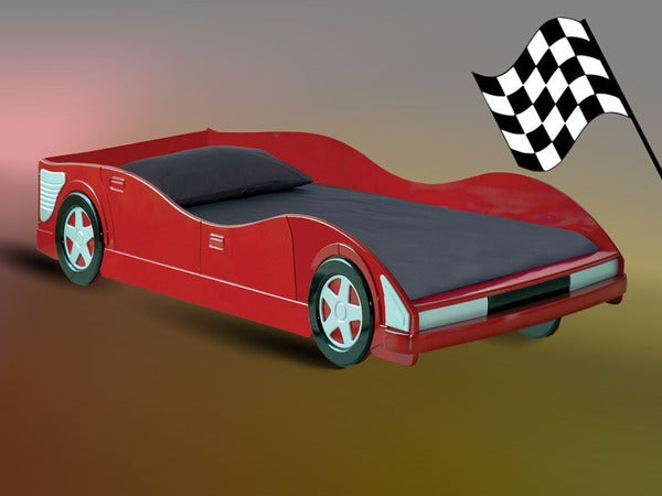 Red Racing Car Bed - Single - The Furniture Mega Store