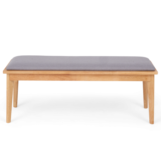 Scarlet Oak & Grey Cushion Seat Dining Bench - 150cm