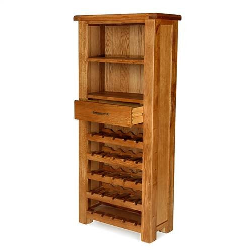 Earlswood Oak Tall Wine Cabinet