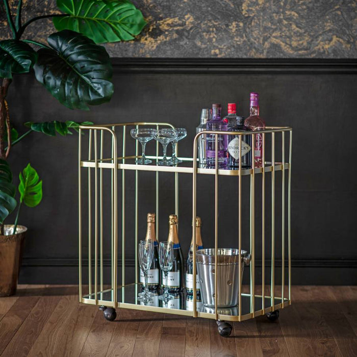 Verna Drinks Trolley Champagne - The Furniture Mega Store