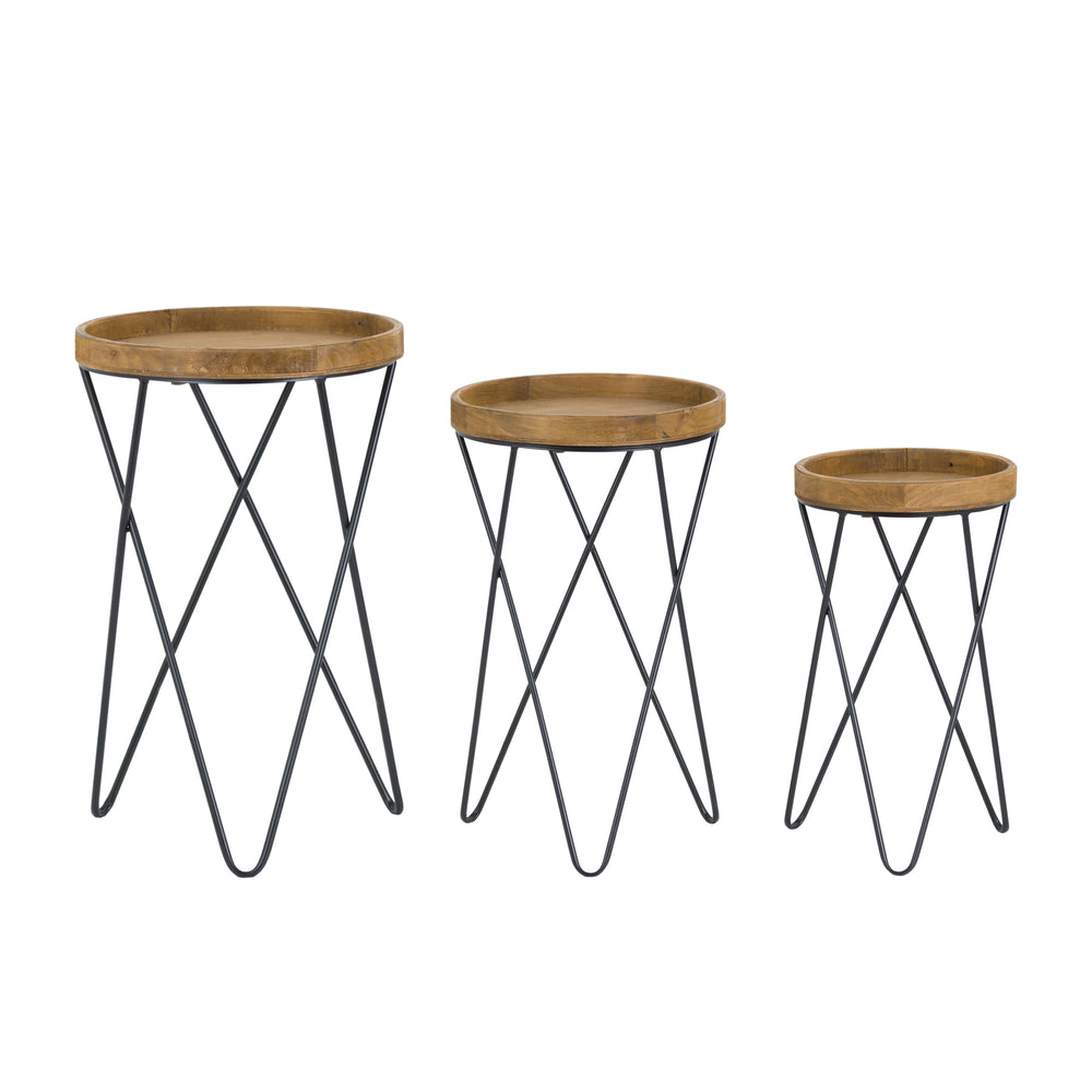 Loft Collection Set Of Three Side Tables - The Furniture Mega Store