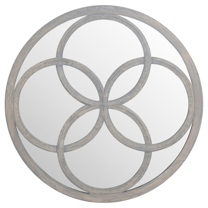 Flower of Life Grey Painted Mirror 90cm