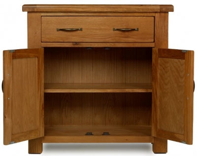 Earlswood Oak Petite 1 Drawer Sideboard - The Furniture Mega Store