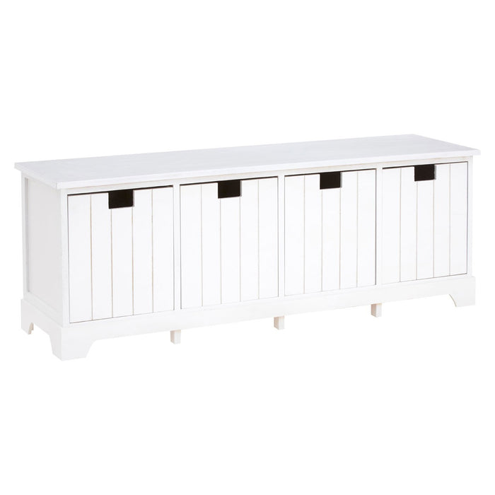 New England 4 Drawer Hallway Bench - The Furniture Mega Store